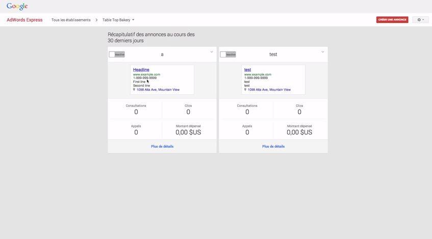 Comment modifier votre annonce AdWords Express ?
