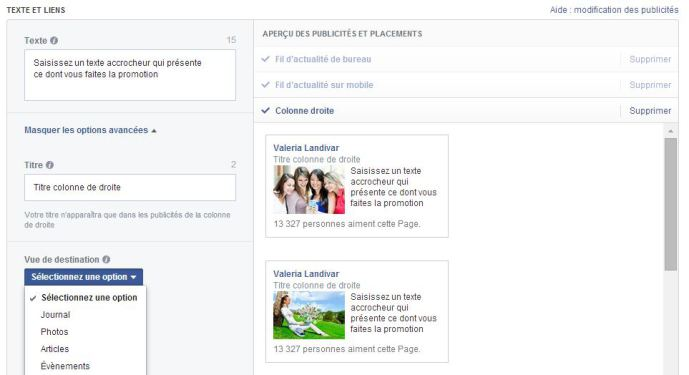 publicite facebook like 5