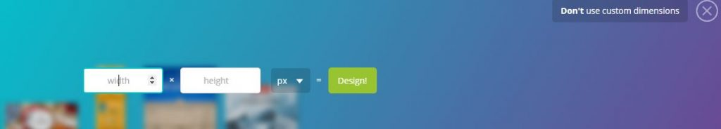 canva custom dimensions