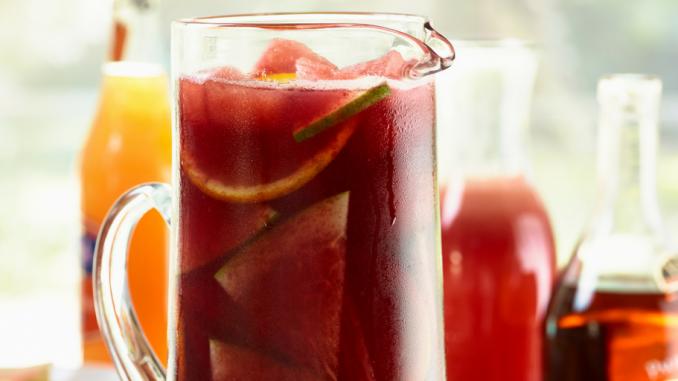 Recette : Sangria au melon d'eau et à la grenade