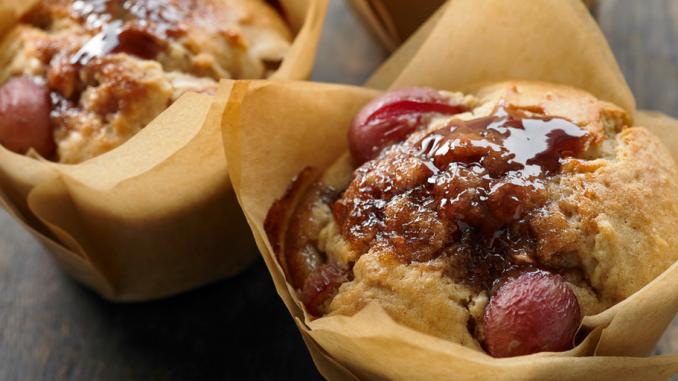 Recette : Muffins au beurre d'arachide et à la gelée