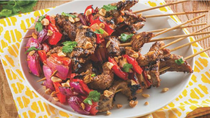Recette : Kebabs de bavette de bœuf à la thaï