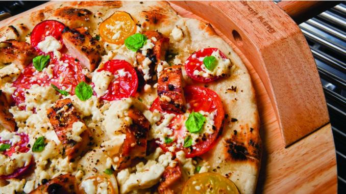 Recette : Pizza au poulet, aux champignons shiitake et à la coriandre