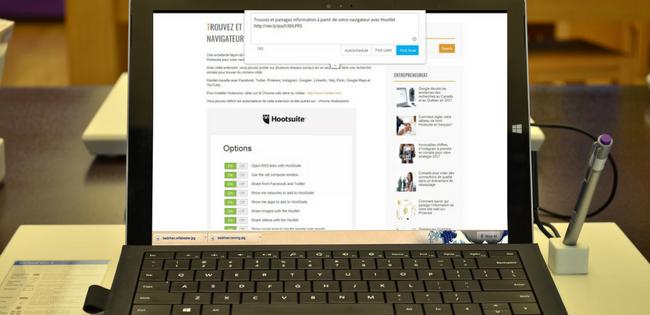 Trouvez et partagez de l'information à partir de votre navigateur avec Hootlet